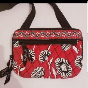 Vera Bradley red & black floral cross body bag